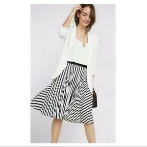 EXPRESS High Waisted Black & White Pleated Skirt
